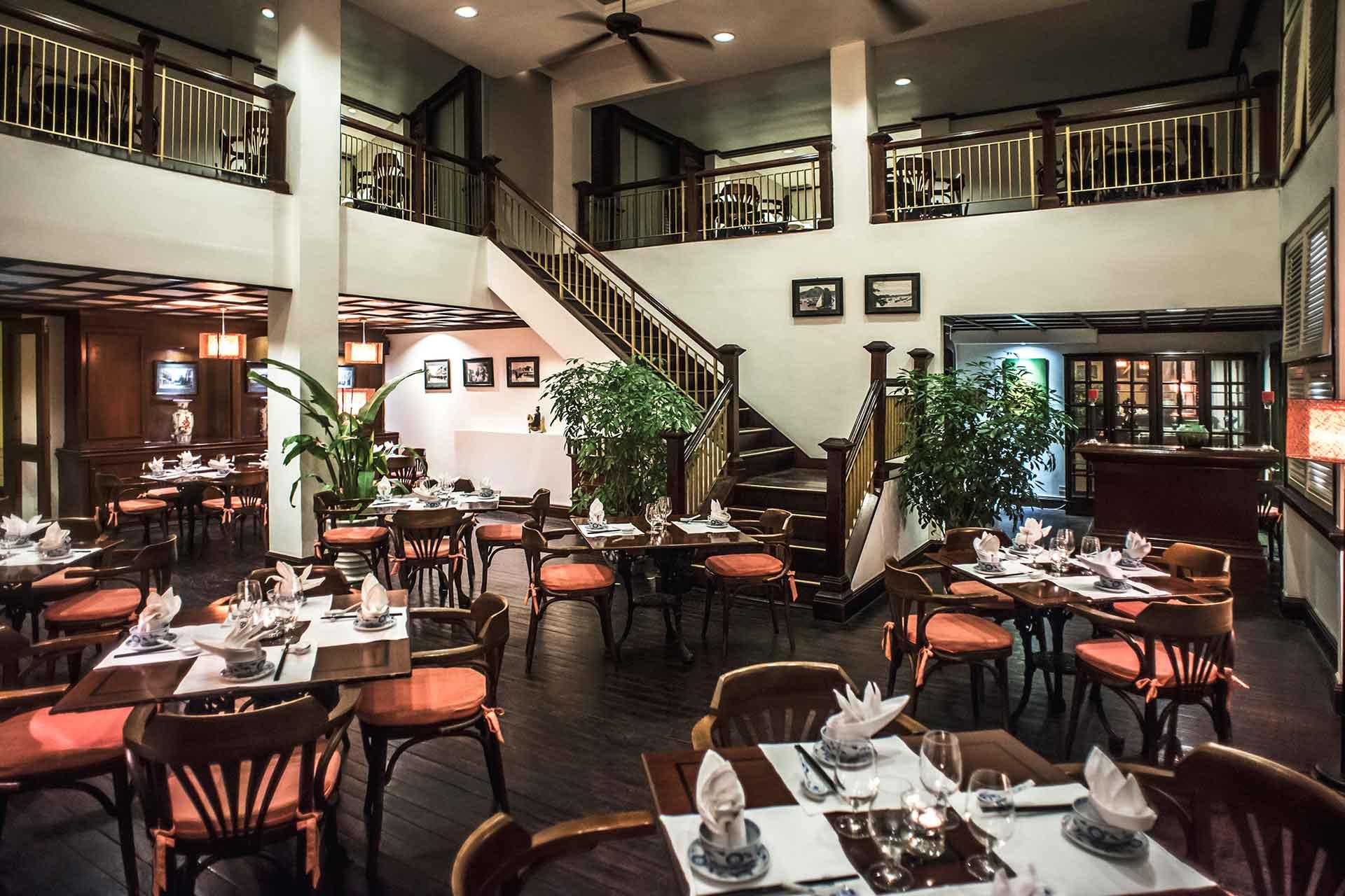 Interior of Nam Phuong restaurant