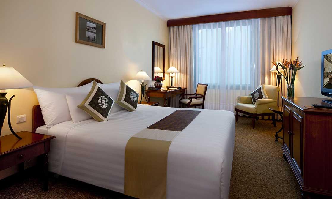 Bedroom interior of one of the Hotels in Vietnam