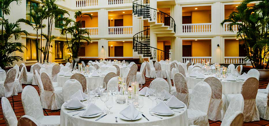 An outdoor setup for one the Weddings in Hai Phong