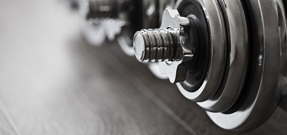 Dumbbells at AVANIFIT fitness centre