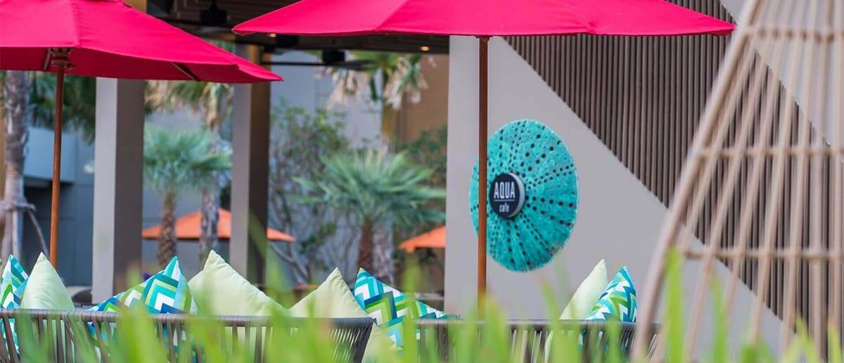AQUA outdoor seating at AVANI Hua Hin
