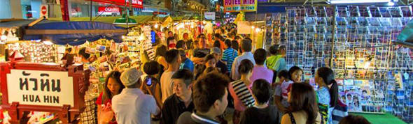 Hua Hin night market shopping