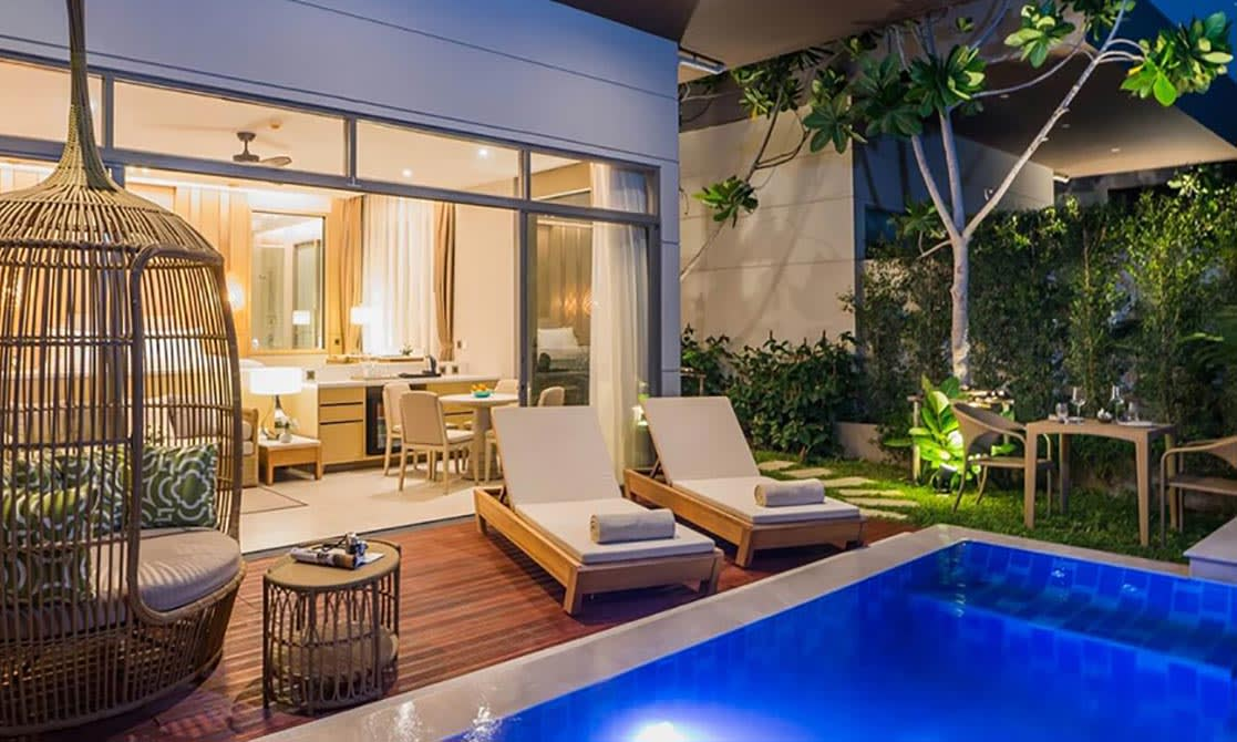 AVANI Hua Hin Pool Villa at night