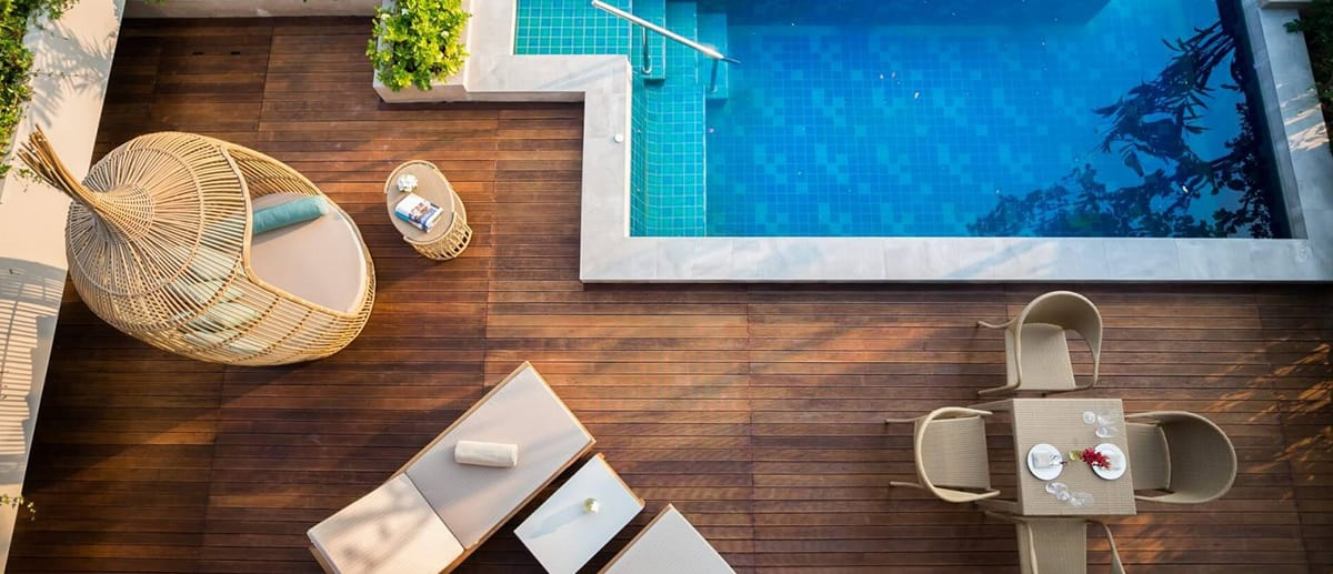 Two Bedroom Lagoon Pool Villa sundeck at AVANI Hua Hin