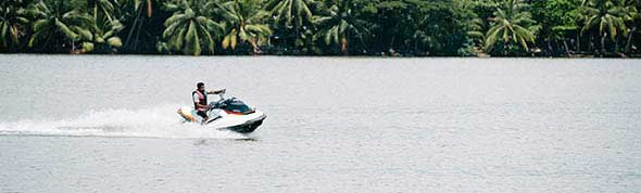 Jet Ski riding at AVANI Kalutara