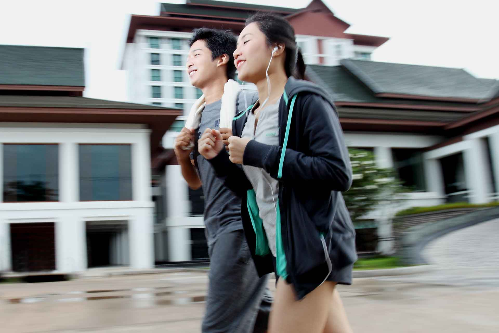 A couple jogging in Khon Kaen