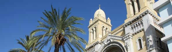 Cathedral of St Vincent de Paul at  Avani Les Berges Du Lac Tunis Suites