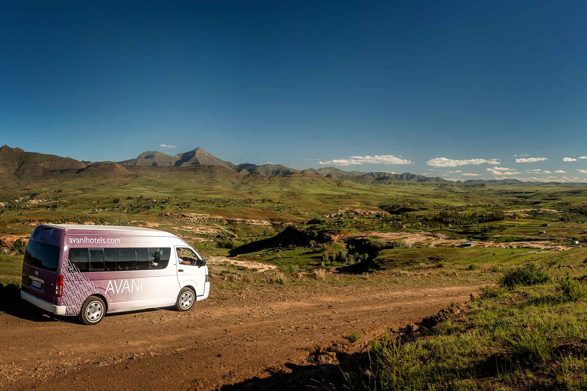 An AVANI van exploring Lesotho