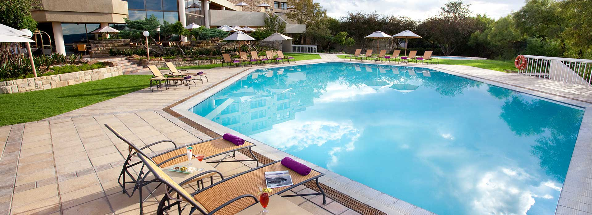 AVANI Lesotho Hotel pool deck