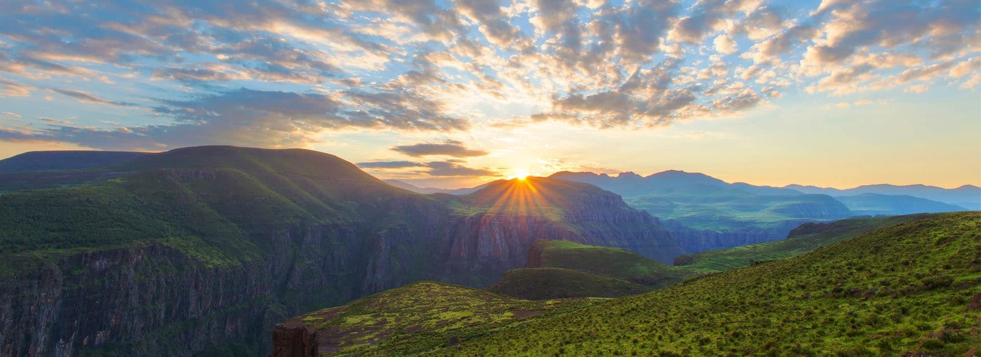 Sunrise view from hotel Maseru Lesotho