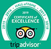 Avani Trip Advisor Logo Certificate of Excellence 2015 to 2019