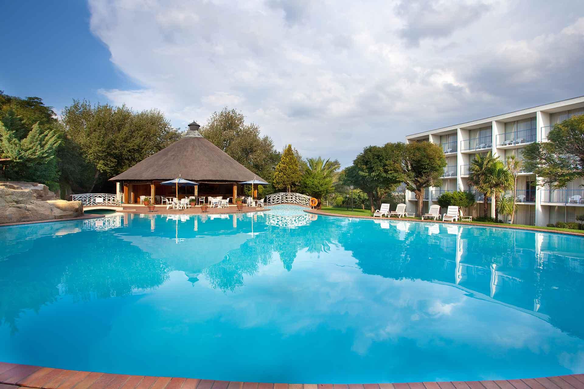 AVANI Maseru Hotel Pool and the pool deck