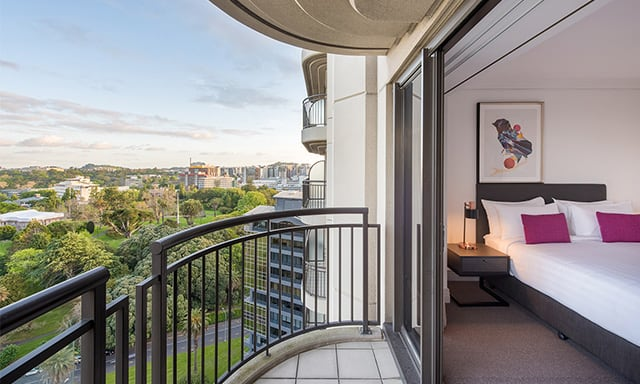 1 Bedroom Executive Park Suite Balcony In at AVANI Metropolis Auckland Residence hotel