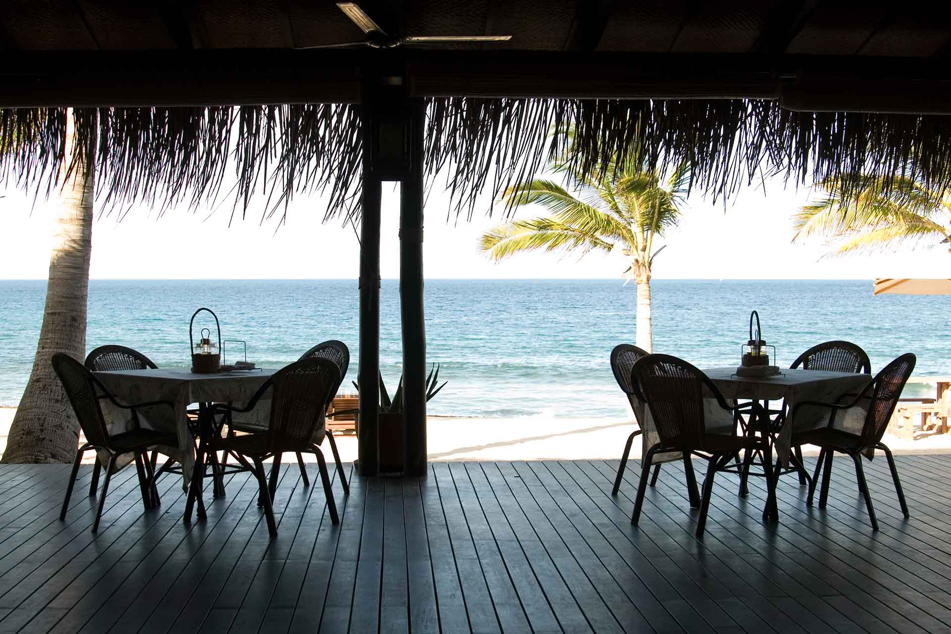 Sea view from a restaurant at AVANI Pemba Beach Hotel