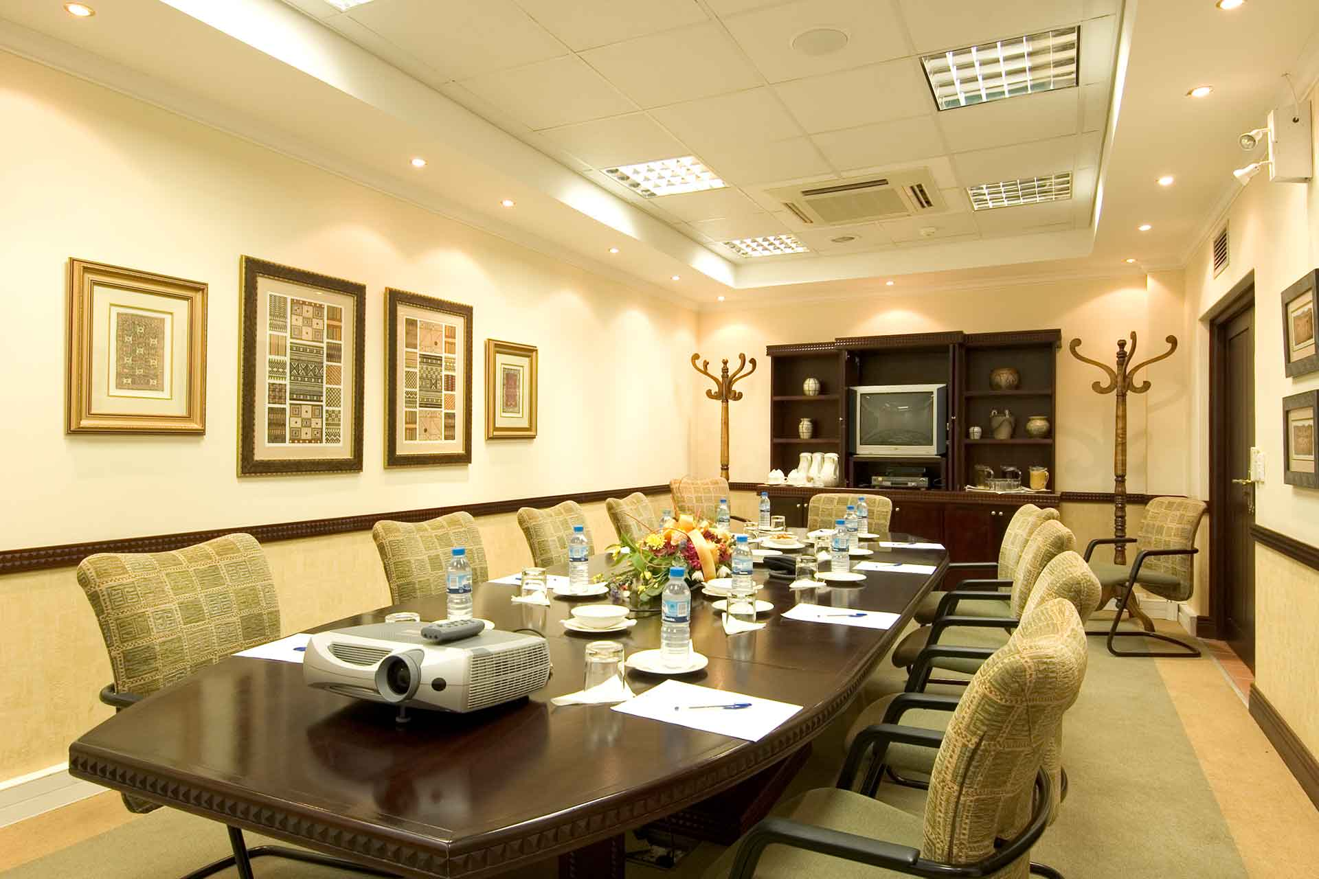 A boardroom setup at AVANI Pemba Beach Hotel