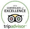 Trip advisor logo of excellence