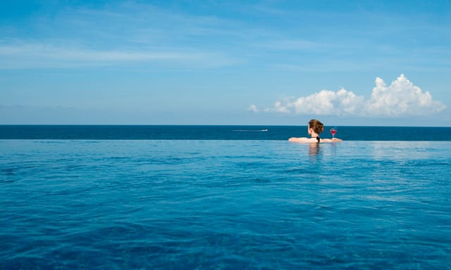 view of the sea from AVANI Pemba infinity pool