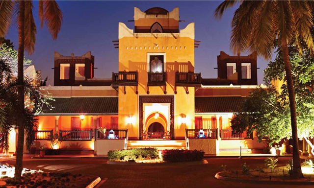 Exterior of AVANI Pemba Beach hotel & Spa at night