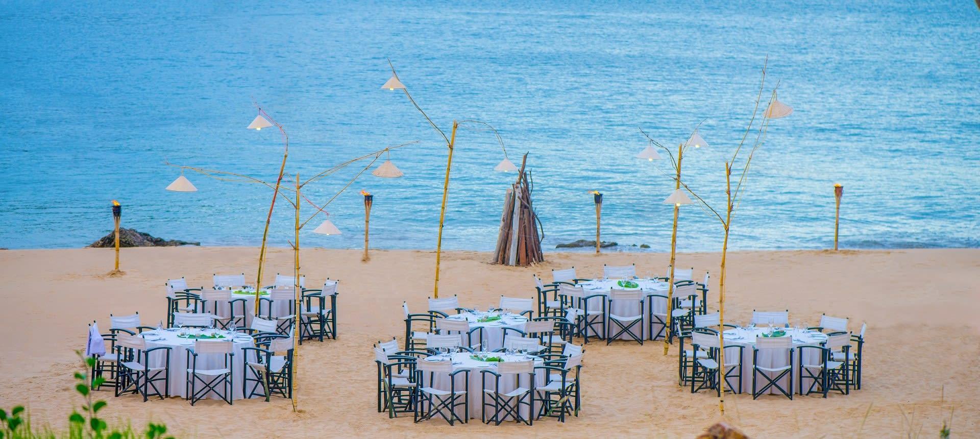 Stunning beach wedding setting at Avani Quy Nhon Resort
