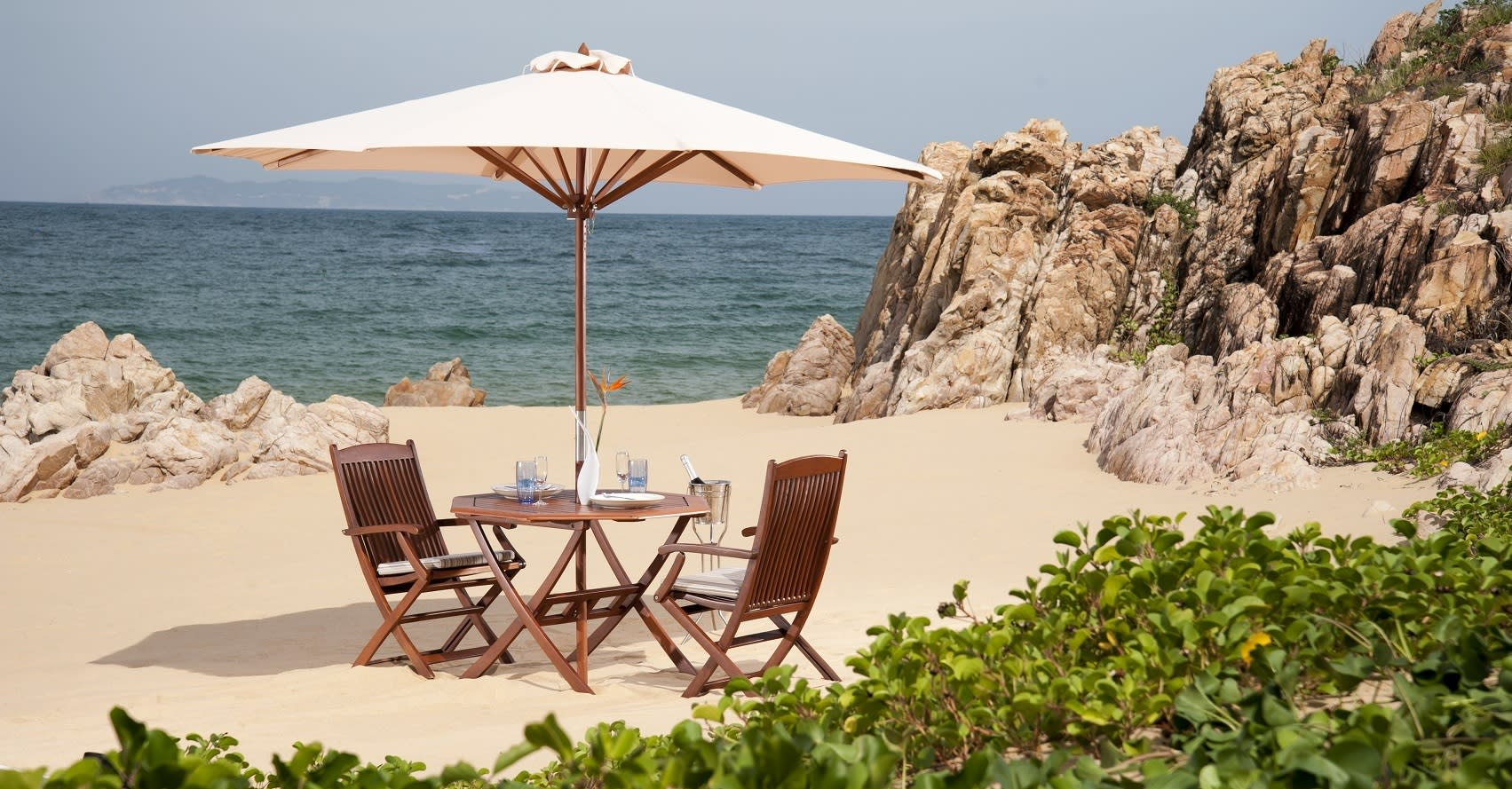 Avani Quy Nhon Resort private dining area on the beach