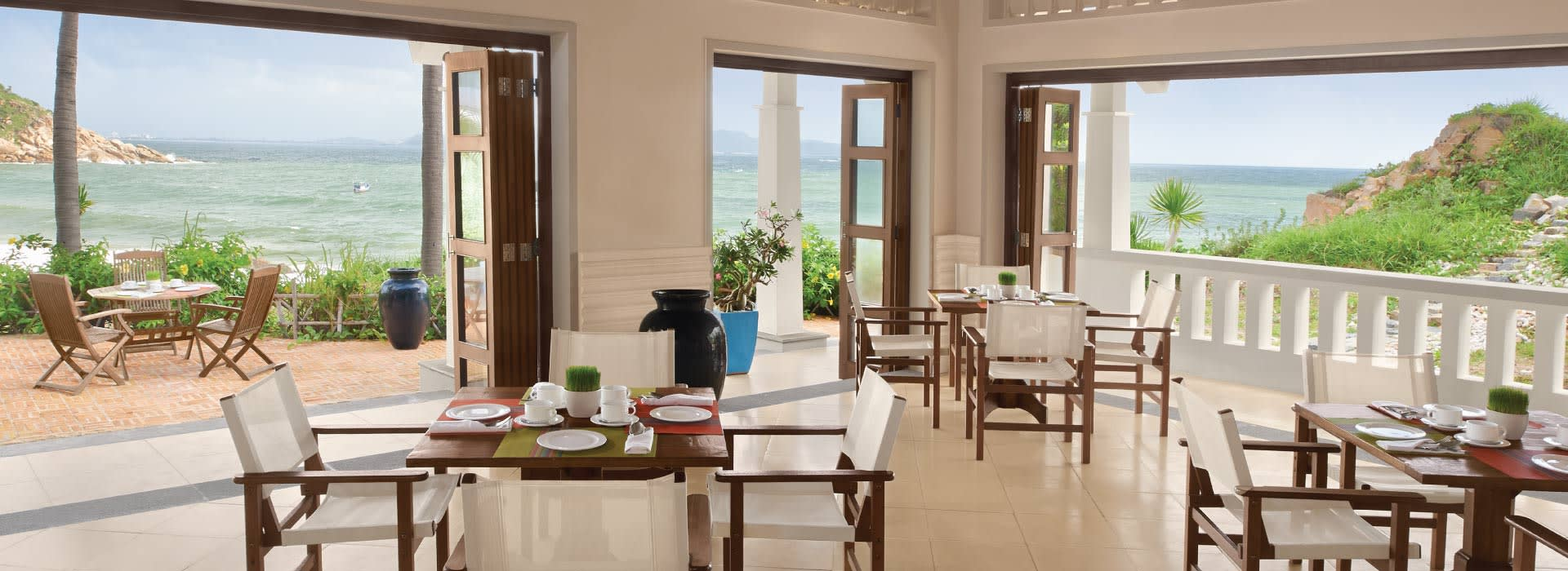 View of the sea from Tre restaurant at AVANI Quy Nhon resort