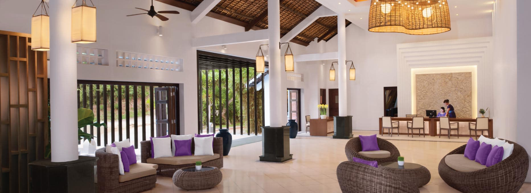 Interior of the lobby area of AVANI Quy Nhon Resort