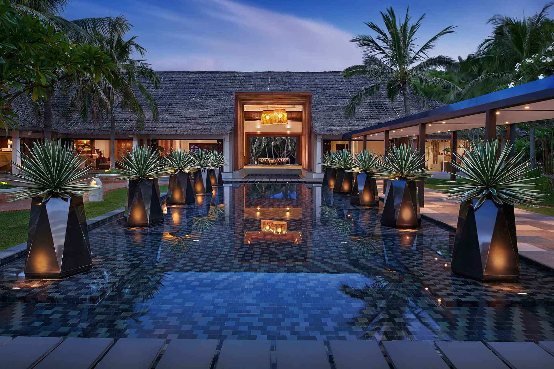 Front entrance of AVANI Quy Nhon resort and spa
