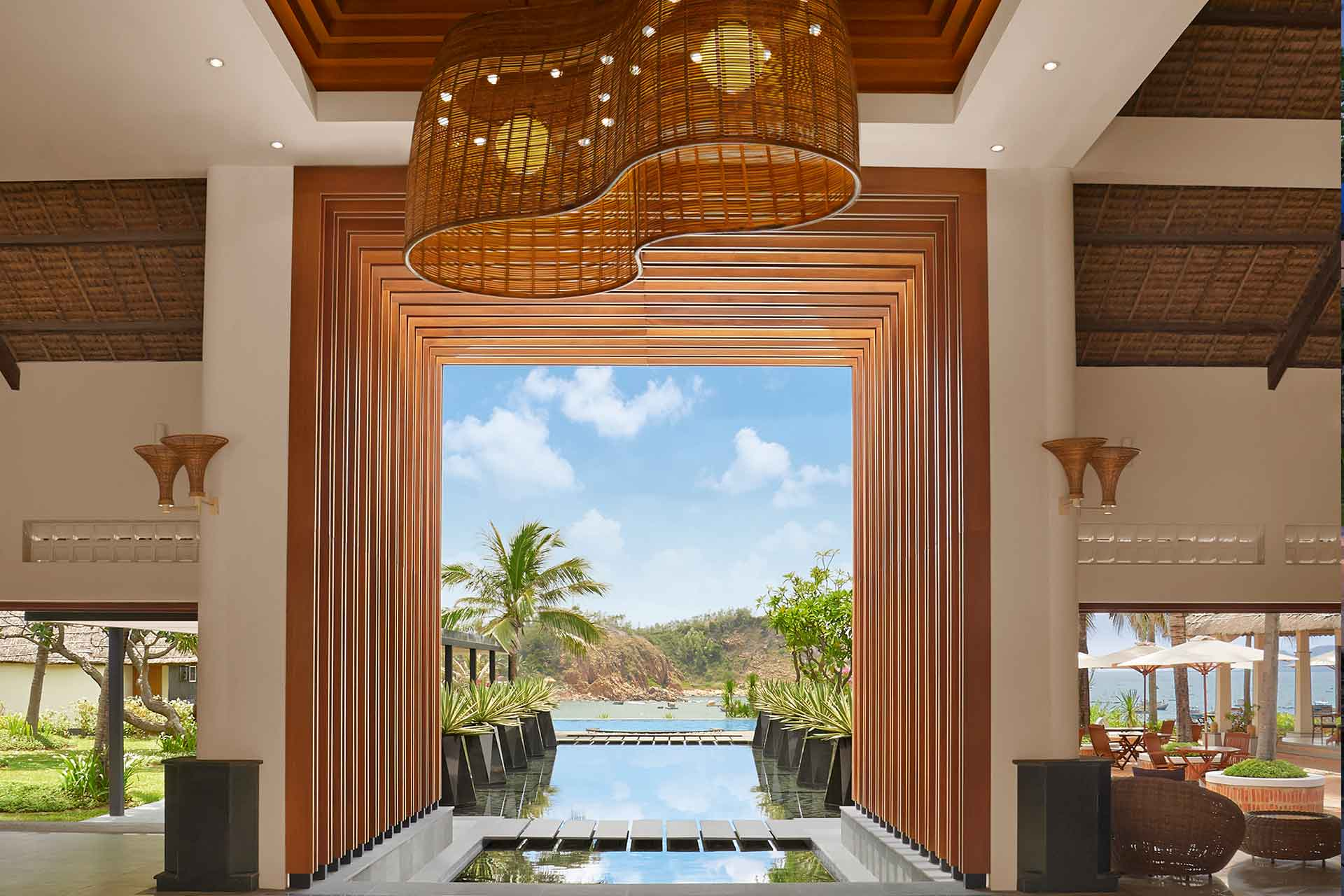 Lobby area of AVANI Quy Nhon Resort