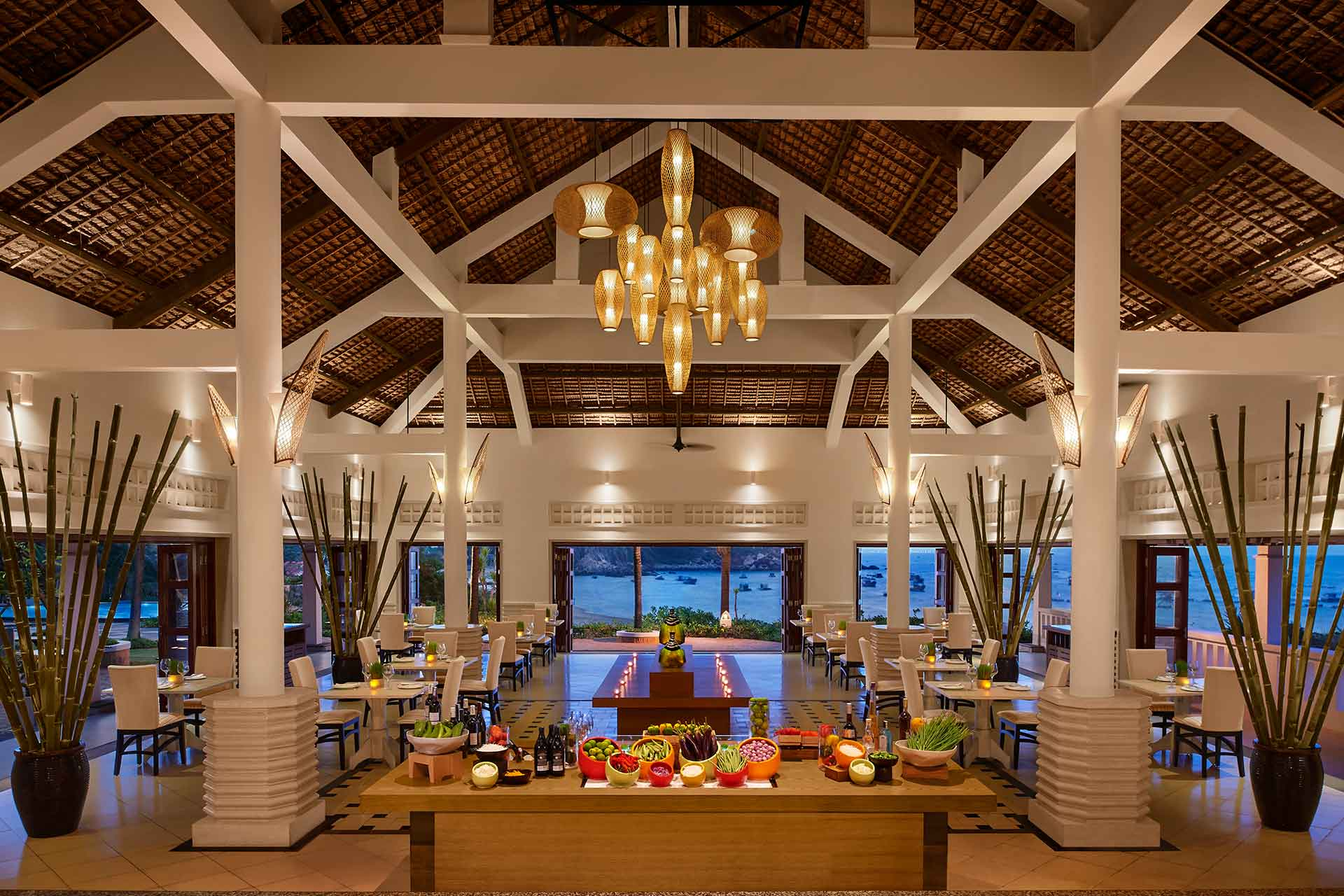 Interior of Tre Restaurant at Quy Nhon Resort and spa