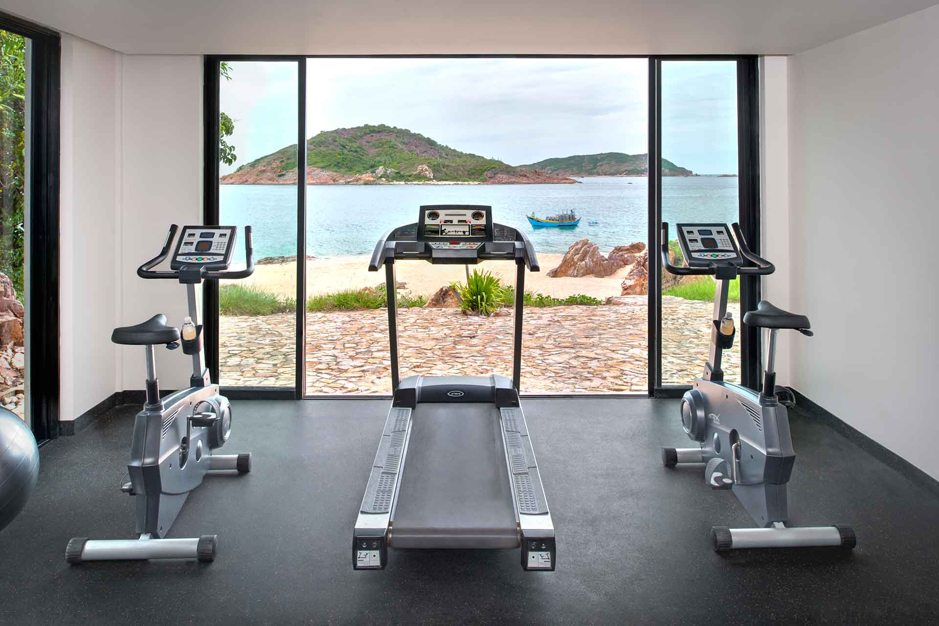 Gym with the lake view at AVANI Quy Nhon
