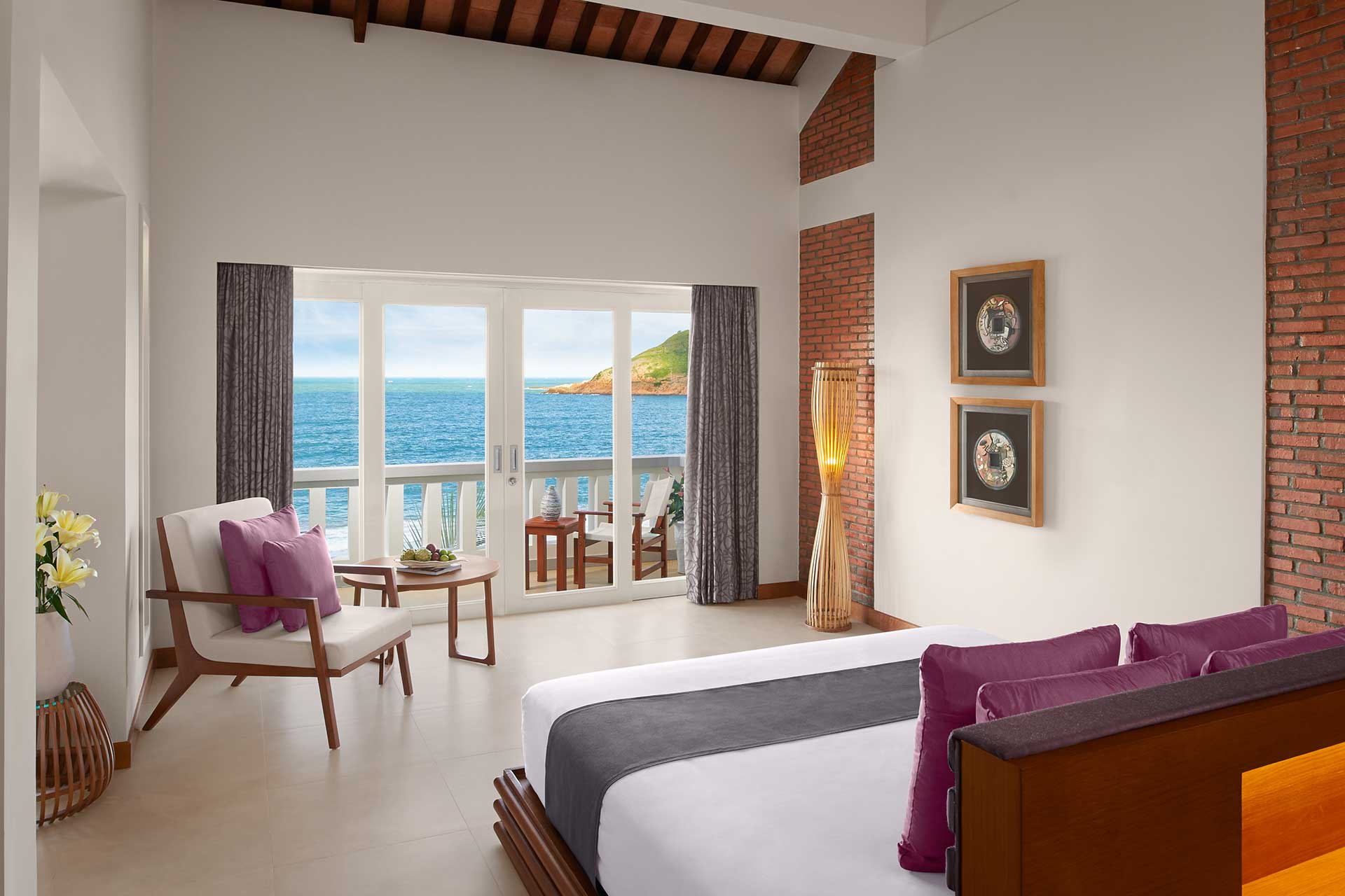 A Deluxe studio room at AVANI Quy Nhon with sea view