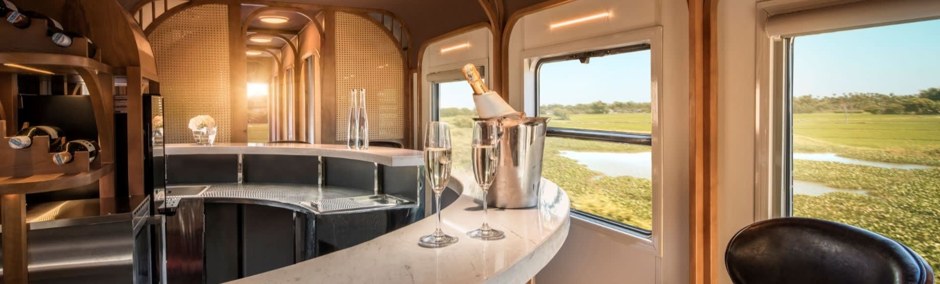 The Vietage luxury train journey with stunning countryside views