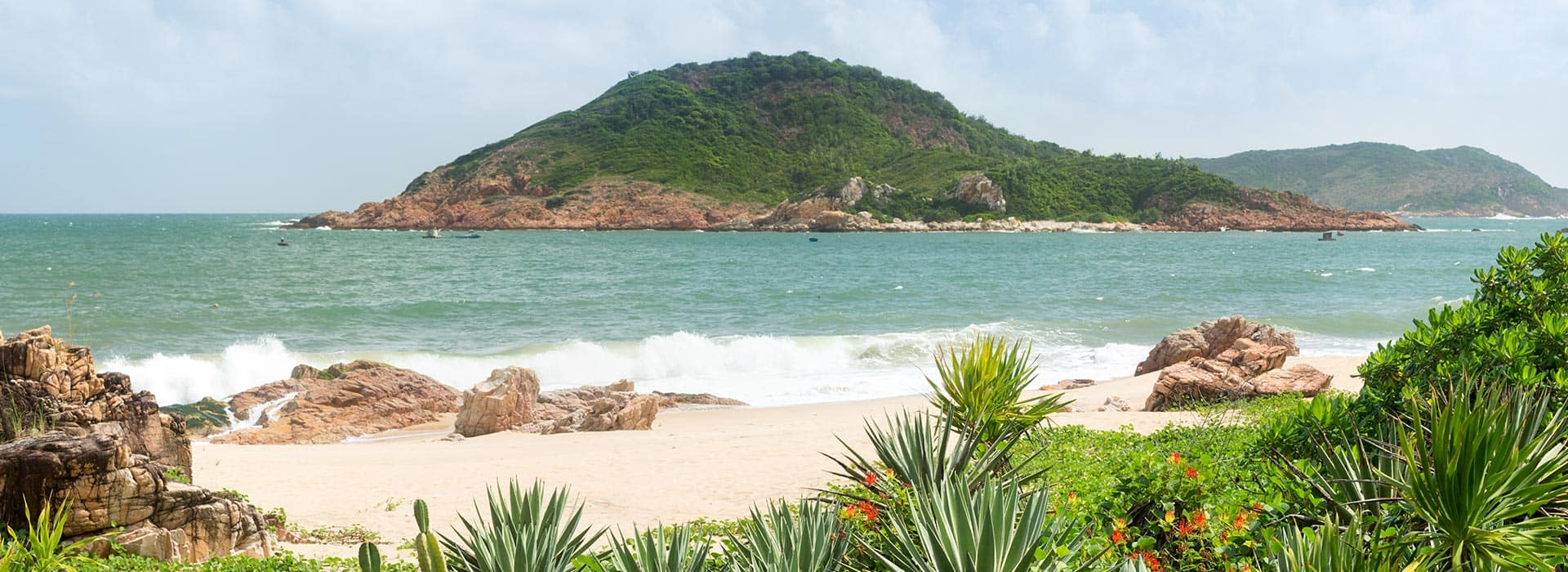 A private beach area of one of the Quy Nhon Hotels