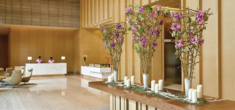 Lobby area of a business Hotel Bangkok