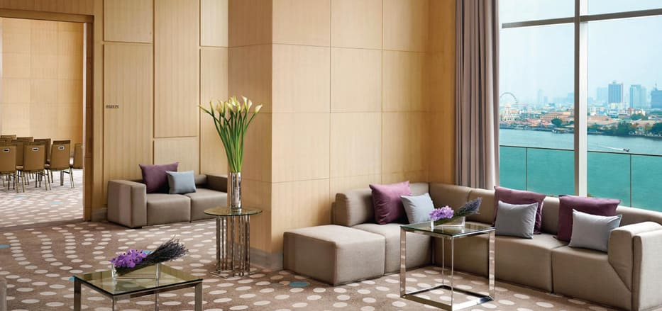 A meeting lobby area of a Business Hotel Bangkok