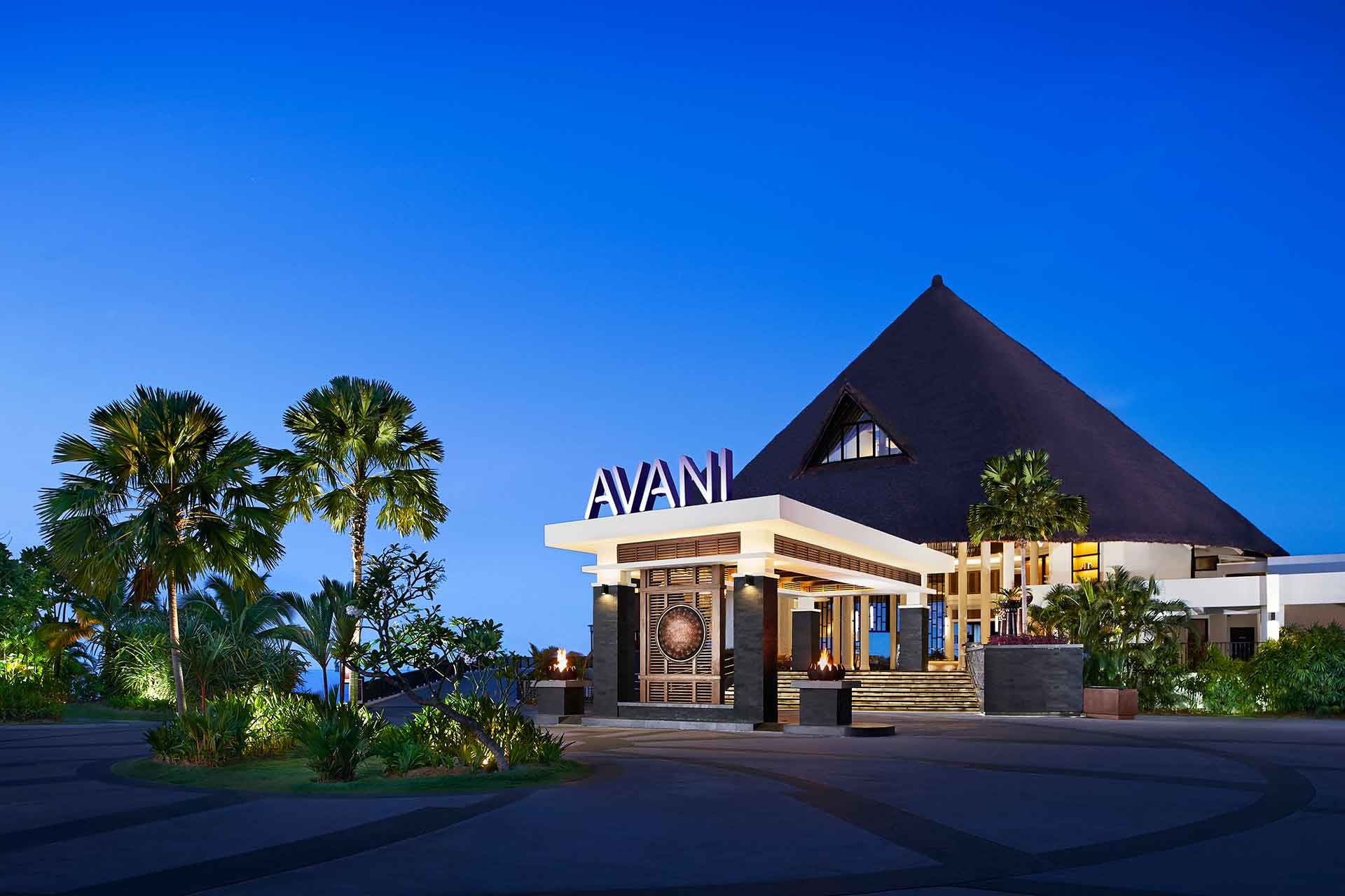 Main entrance of AVANI Sepang Goldcoast Resort