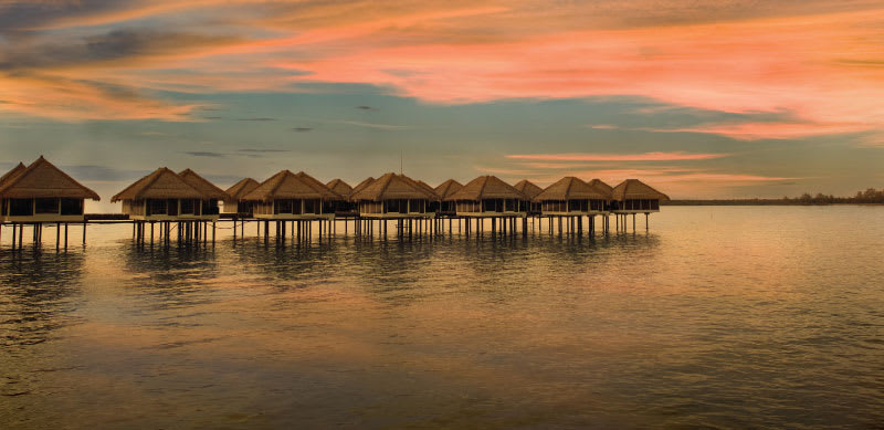 Water villas of Sepang Resort