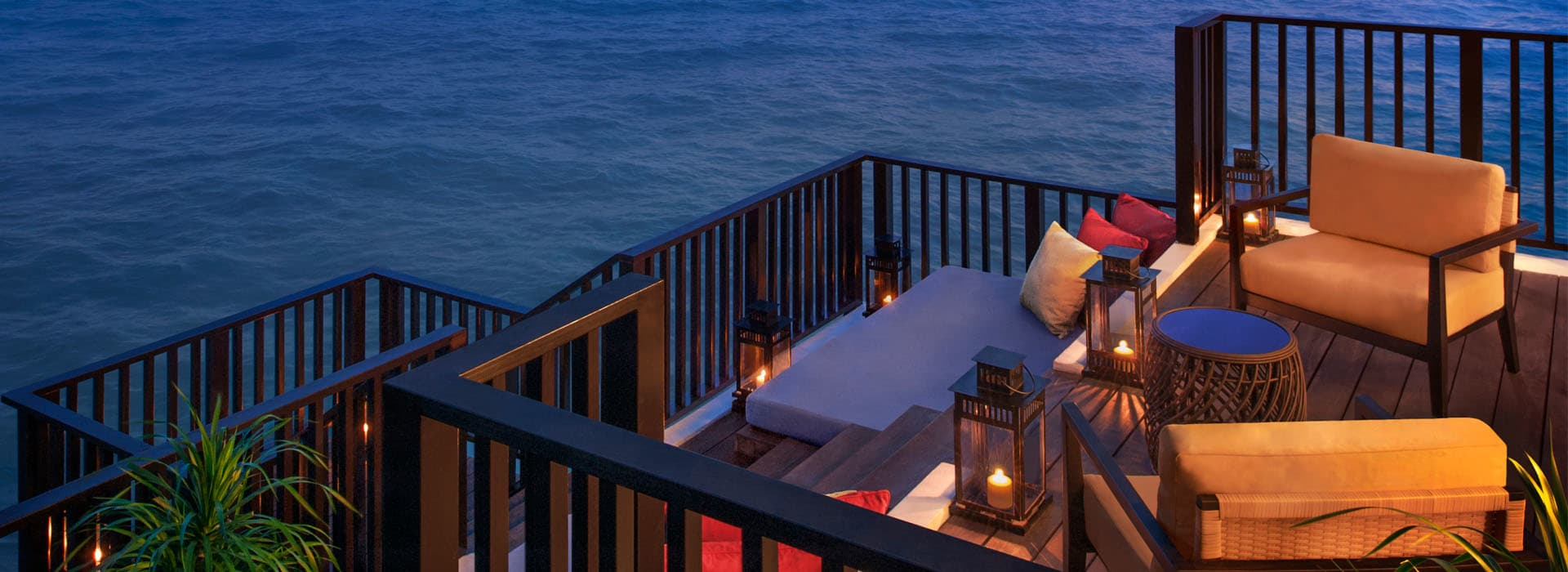 Dining deck at one of the Sepang Hotels Malaysia