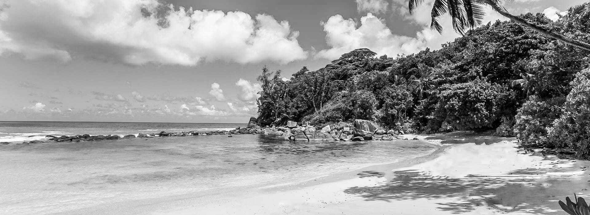 Private beach area of AVANI Seychelles