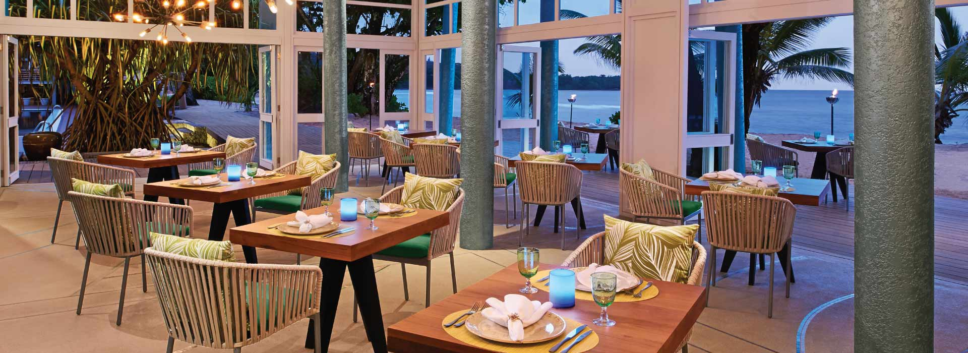 The Tamarind restaurant at AVANI Seychelles Barbarons Resort