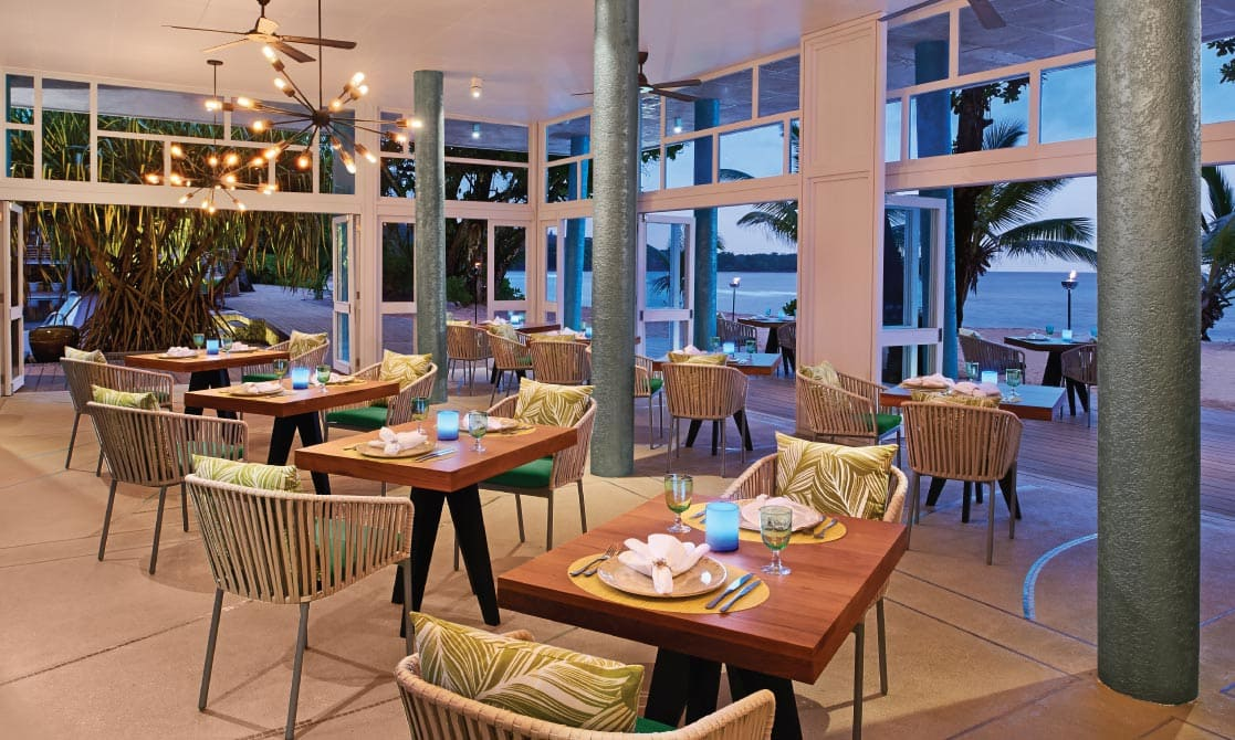 Interior of Tamarind restaurant at AVANI Seychelles Barbarons