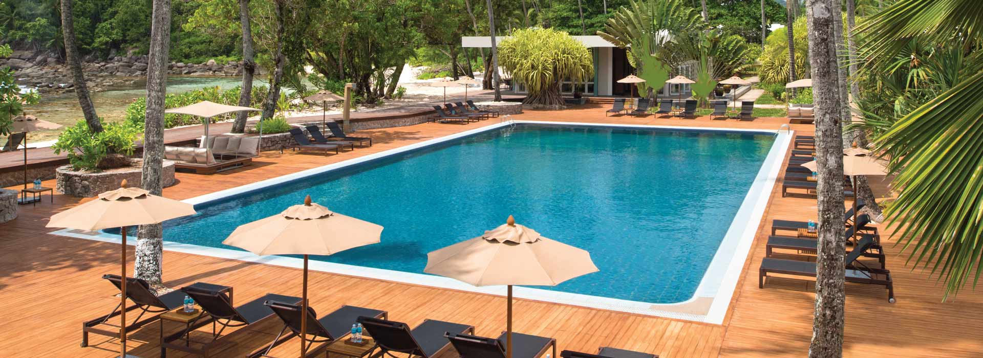 Pool area of AVANI Seychelles