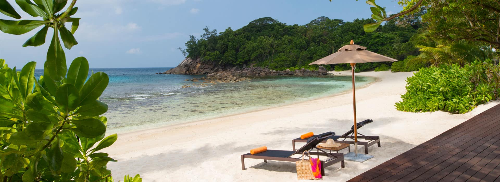 AVANI Seychelles private beach with sun beds