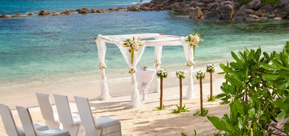 Wedding decorations at Seychelles