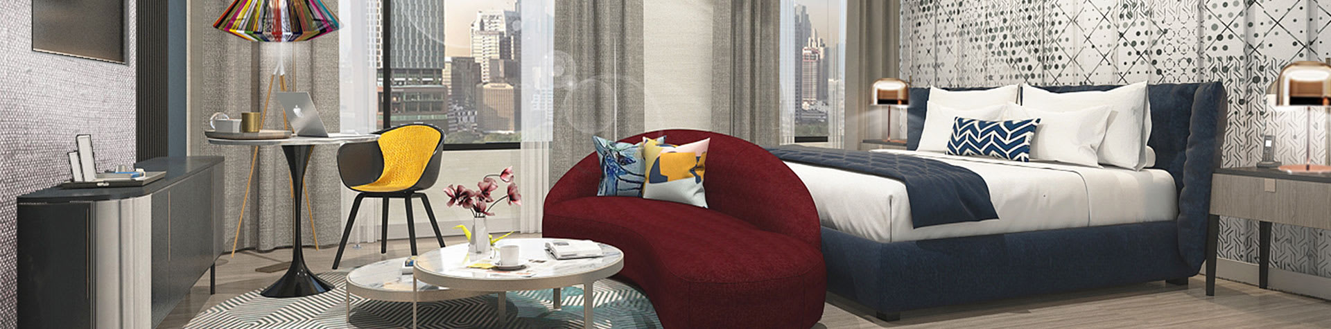 Avani Skyline Deluxe Room at Avani Sukhumvit Bangkok Hotel