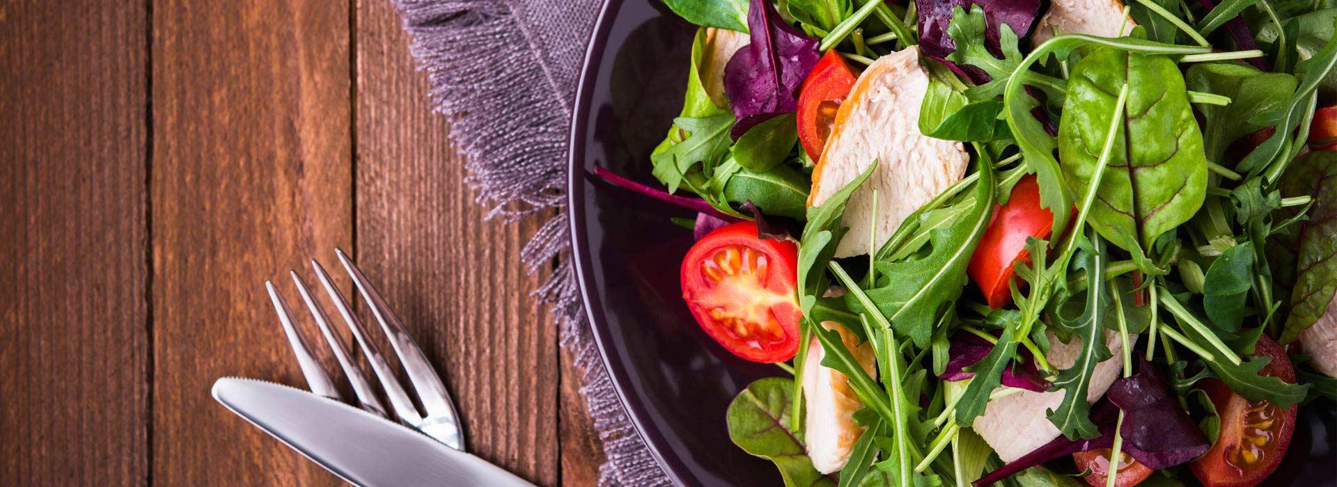 A fresh salad plate at AVANI Victoria falls
