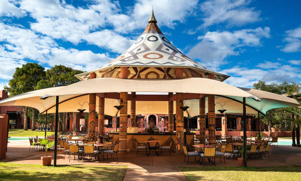 The Poolside grill and bar is among best Zambia restaurants