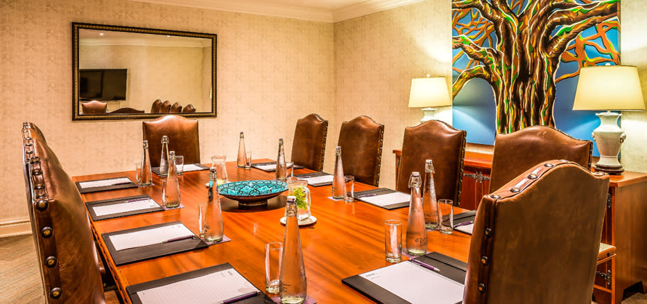A board room set up at AVANI Victoria falls resort