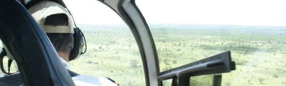 Helicopter tour over wilderness is among things to do in Zambia