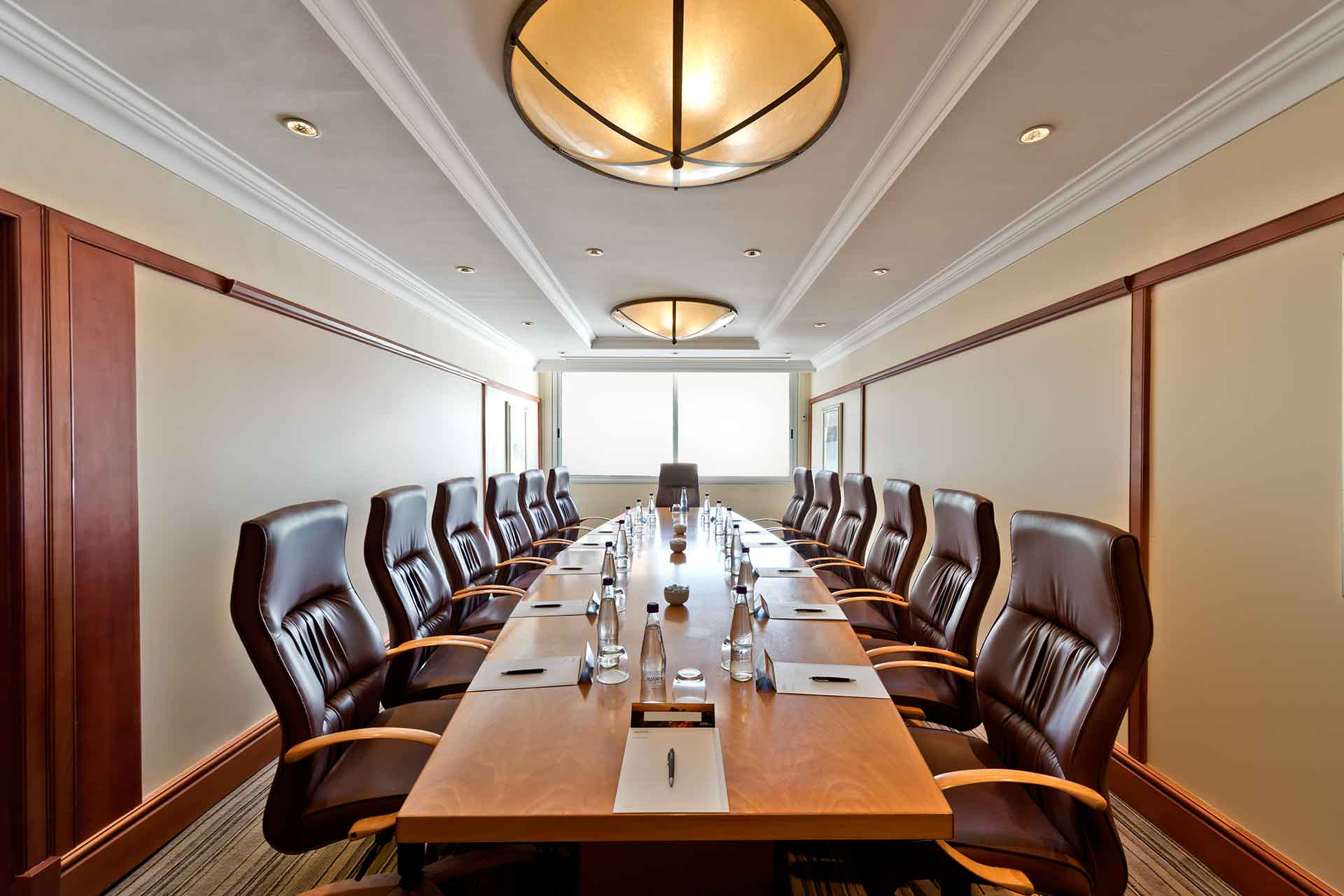 Images of the board room at AVANI Windhoek Hotel